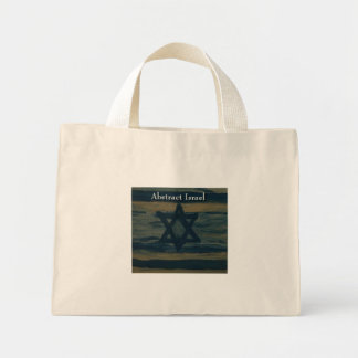 abstract israel mini tote bag