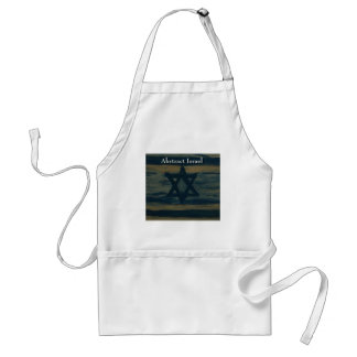abstract israel standard apron