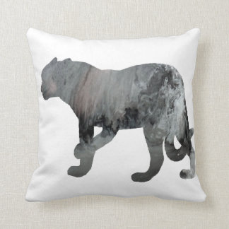 Abstract Jaguar silhouette Throw Pillow