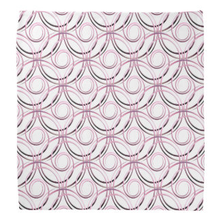 abstract japanese circles pattern kerchief