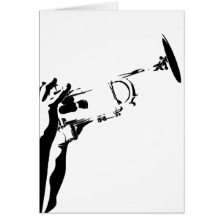 Abstract Jazz Trumpet Card