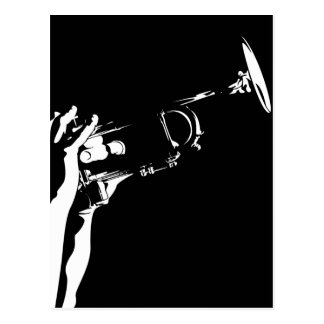Abstract Jazz Trumpet Postcard