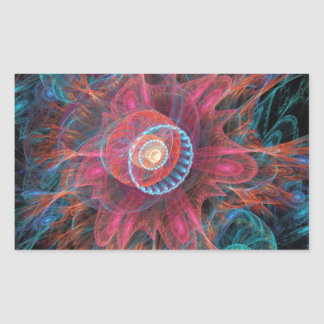 Abstract Jellyfish Rectangular Sticker