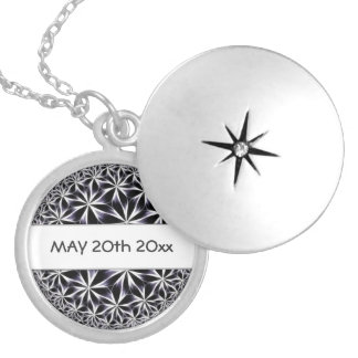 Abstract jewelry pendant with date