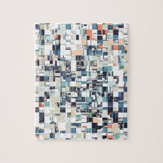 Abstract Jumbled Mosaic Jigsaw Puzzle