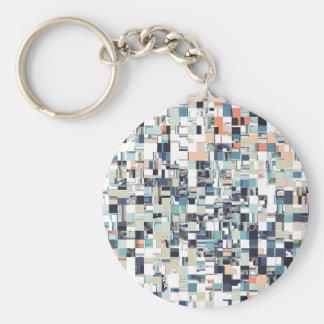 Abstract Jumbled Mosaic Key Ring
