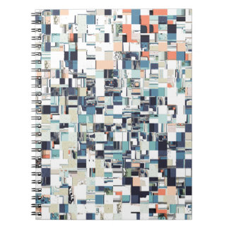 Abstract Jumbled Mosaic Notebooks
