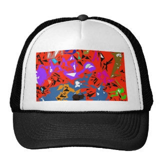 Abstract Jungle Red Cap