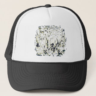 abstract jungle trucker hat