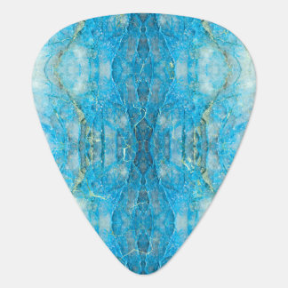 Abstract Kaleidoscope Blue Mineral Crystal Texture Guitar Pick