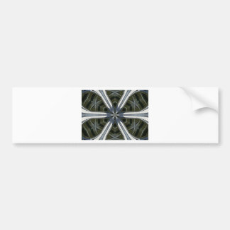 abstract kaleidoscope bumper sticker