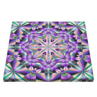 Abstract kaleidoscope canvas print Cycling Purples