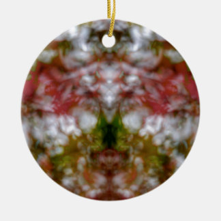 Abstract kaleidoscope figure and faces round ceramic decoration