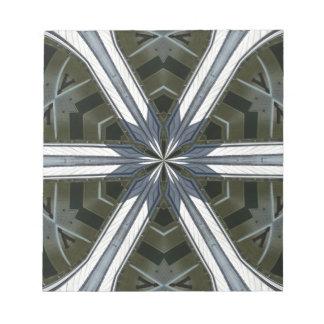 abstract kaleidoscope notepad