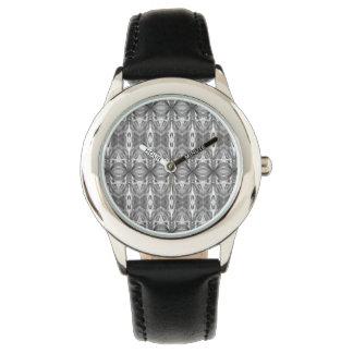 Abstract Kaleidoscope Pattern - Grey Watch