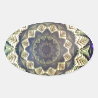 Abstract Kaleidoscope  Print Oval Sticker