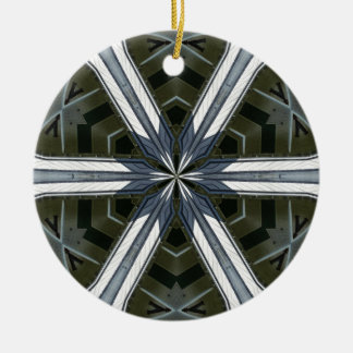 abstract kaleidoscope round ceramic decoration