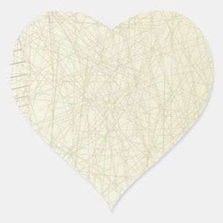 Abstract Keyboard Heart Sticker