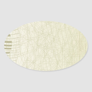Abstract Keyboard Oval Sticker
