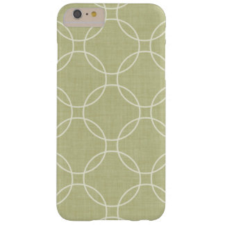 Abstract khaki circles barely there iPhone 6 plus case