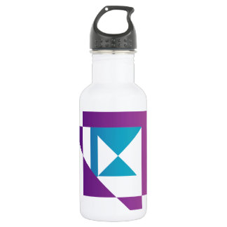 Abstract kite shaped graphic 532 ml water bottle