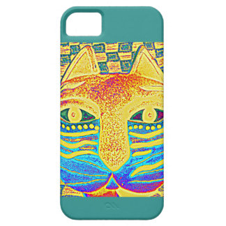 ABSTRACT KITTY FACE BARELY THERE iPhone 5 CASE