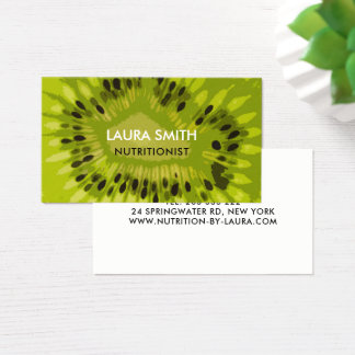 Abstract Kiwi Fruit Business Card - Nutritionists