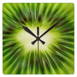 Abstract Kiwi Square Wall Clock