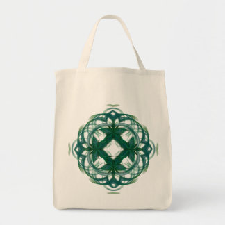 Abstract Knotwork Grocery Tote Bag