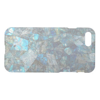 Abstract Labradorite Mosaic Clear iPhone Case