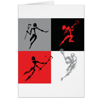 Abstract Lacrosse Greeting Cards