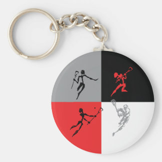 Abstract Lacrosse Keychains