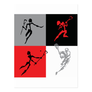 Abstract Lacrosse Postcards