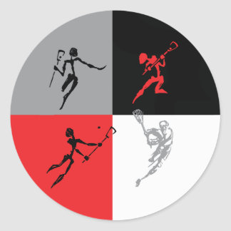 Abstract Lacrosse Stickers
