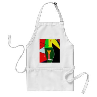 Abstract lady standard apron