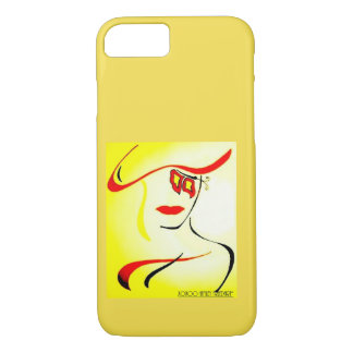 Abstract Lady Yellow iPhone 8/7 Case