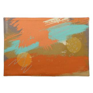 Abstract Landscape Art Paint Circles Spheres Placemat