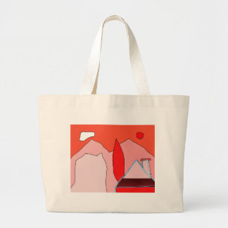 Abstract landscape jumbo tote bag