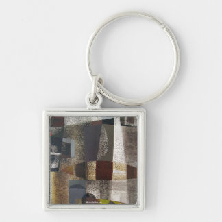 Abstract Landscape of Potosi Bolivia 20.3 x 28.9 Silver-Colored Square Key Ring