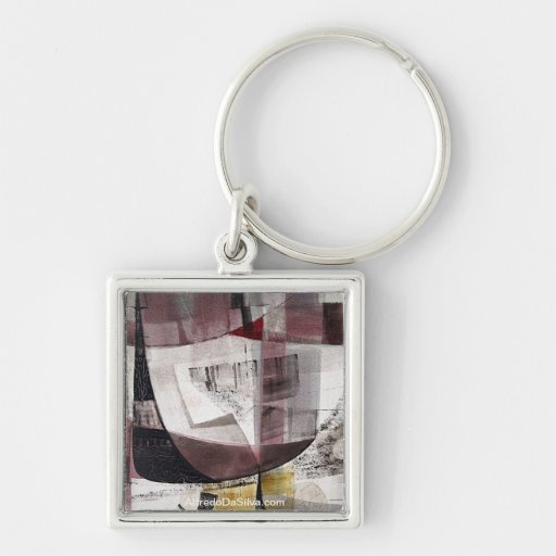 """Abstract Landscape of Potosi Bolivia 22""""x22"""" Key Chains"""