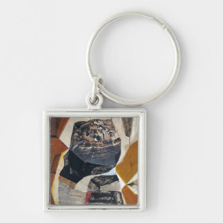 Abstract Landscape of Potosi Bolivia Silver-Colored Square Key Ring