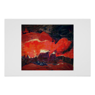 Abstract landscape, orginal poster