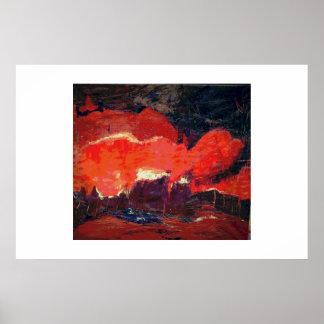 Abstract landscape, orginal poster