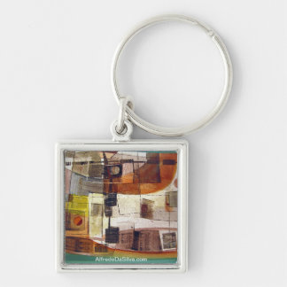 Abstract Landscape Potosi 23.5x16.75 Silver-Colored Square Key Ring