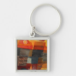 Abstract Landscape Potosi 23x17 Silver-Colored Square Key Ring