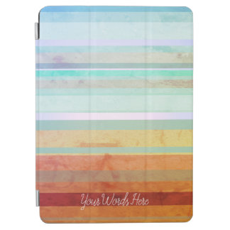 Abstract Landscape Stripes & Your Words iPad Air Cover