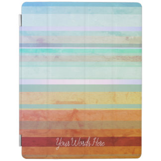 Abstract Landscape Stripes & Your Words iPad Cover