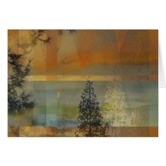 Abstract Landscape Two Card