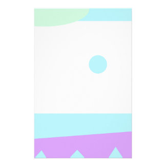 Abstract Landscape with Blue Moon - Stationery Design