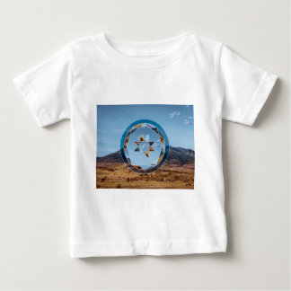 Abstract landscape with geometrical shapes baby T-Shirt